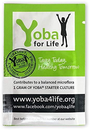 Joghurt-Starter-Kultur/-Ferment - Yoba® - der nachweislich weltweit beste probiotische* Bakterienstamm für Dein selbst-gemachtes Natur-Joghurt - bis zu 100 Liter pro Packung