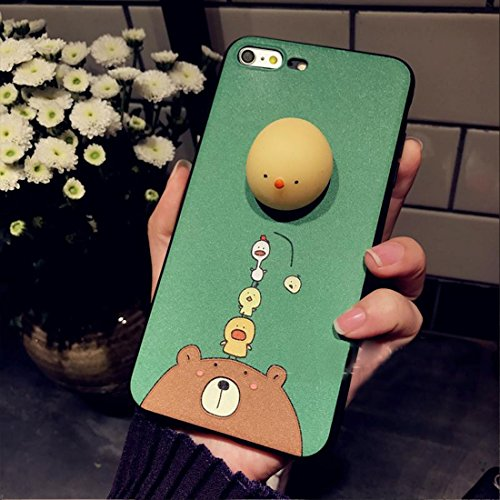 Phone Case & Hülle Für iPhone 6 & 6s 3D Katze Muster Squeeze Relief IMD Verarbeitung Squishy schützende Rückseite Fall ( Size : Ip6g3697a )