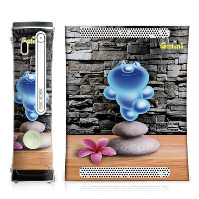 Microsoft Xbox 360 Design Skin Folie Aufkleber - Gelini - Yoga-Baum