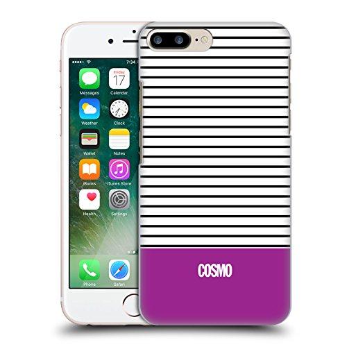 Official Cosmopolitan Teal 1 Stripes Collection Hard Back Case for Apple iPhone X Violet 1