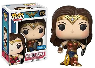Funko - Figurine DC Heroes - Wonder Woman Movie Battle Pose Shield Exclu Pop 10cm - 0889698125475