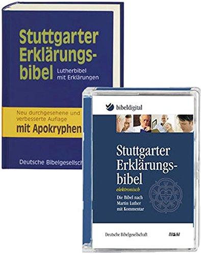 Stuttgarter Erklärungsbibel: Lutherbibel mit Erklärungen. Mit Apokryphen. - Kombipaket Buch und CD-ROM