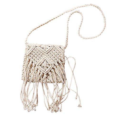mujer-algodon-sencillo-borla-retro-tejido-bolsos-bandolera-carteras-de-mano-blanco