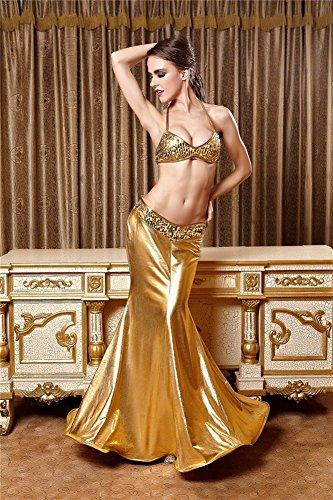 Perfashion Damen Meerjungfrau Ärmellos Party Club Kurz Abend Cocktail Ballkleid Skaterkleid Partykleid 944 Gold
