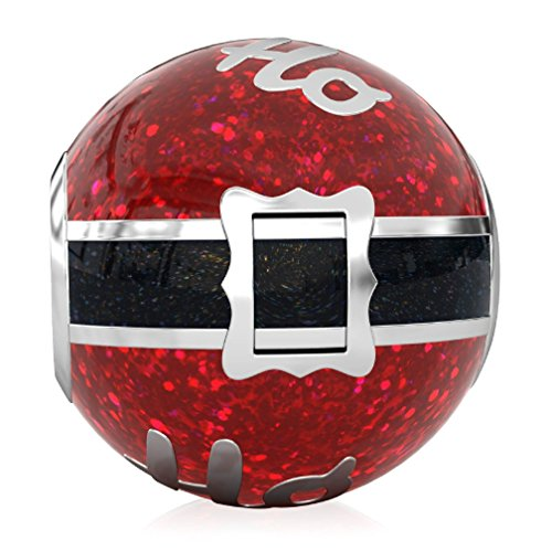 Bella fascini ho-ho-ho Santa Weihnachten Charm Bead für alle kompatibel Europäische Charm-Armbänder