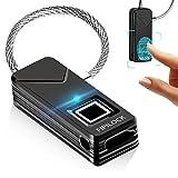 Fingerabdruck Lock–yahe tragbar Fingerabdruck Vorhängeschloss Sicherheit kein Passwort, schwarz
