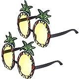 2 Paare Ananas Sonnenbrillen Ananas Form Party Brille Hawaiian Tropisch Sonnenbrille für Themed Foto Requisiten Party Zubehör