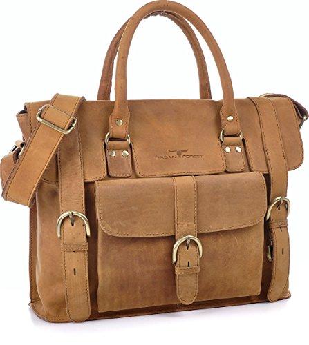 FORÊT URBAINE, Cntmp, sacs à main en cuir, sac de messager d'affaires sacs, mallettes, sacs, sacs portables portables, sacs à bandoulière, A4, cuir naturel, 39x29x10cm (L x H x P) cognac