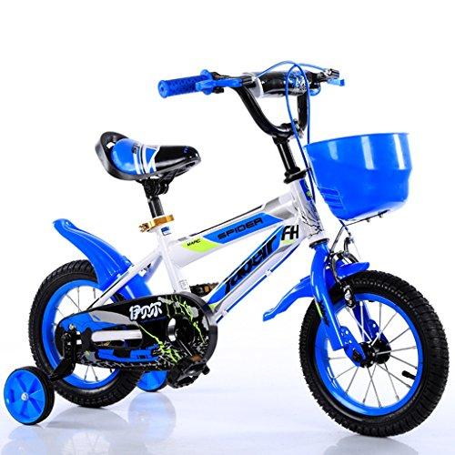 CivilWeaEU- Kind Fold Fahrrad 3-6-8 Jahre Old Baby Kinderwagen 12 Zoll 14 Zoll 16 Zoll 18 Zoll Bike (Farbe : Blau, größe : 12Inch) (Schritt 2 Blaue Wagen)