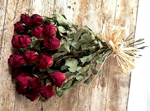 ramo-20-rosas-secas-dark-red-portes-gratis