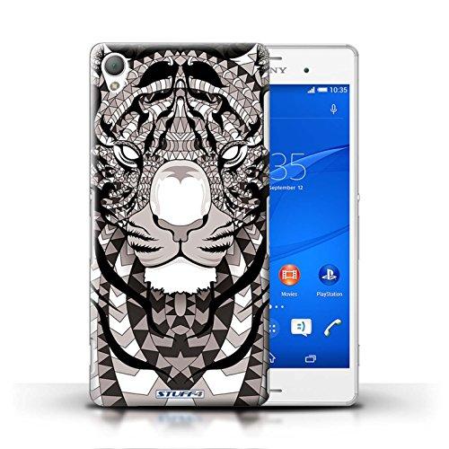 Kobalt® Imprimé Etui / Coque pour Sony Xperia Z3 / Hibou-Pourpre conception / Série Motif Animaux Aztec Tigre-Mono