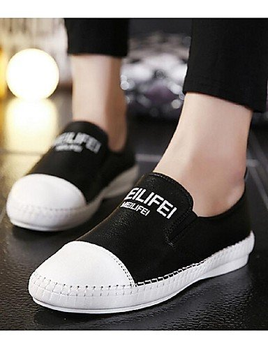 ZQ Scarpe Donna Di pelle Piatto Chiusa Sneakers alla moda Casual Nero/Bianco , white-us8 / eu39 / uk6 / cn39 , white-us8 / eu39 / uk6 / cn39 white-us5.5 / eu36 / uk3.5 / cn35
