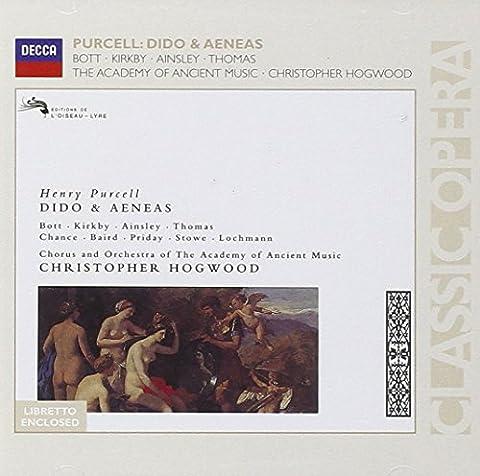 Purcell : Dido & Aeneas (Didon et Enée) - Bott, Kirkby, Ainsley, The Academy of Ancient Music , Christopher Hogwood