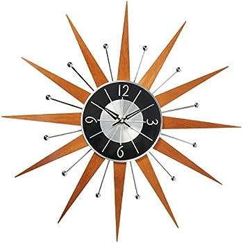 Telechron Wooden Starburst Clock Amazon Co Uk Kitchen Amp Home