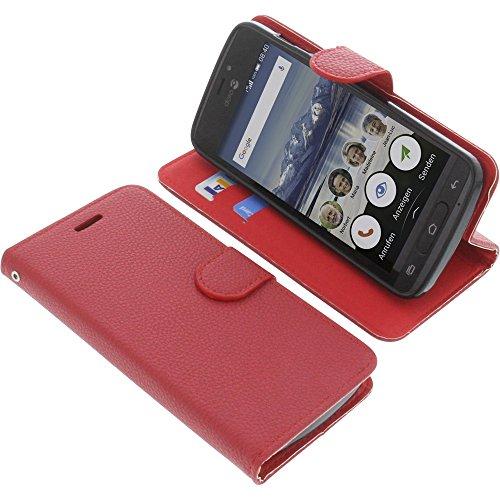 Tasche für Doro 8040 Book Style rot Schutz Hülle Buch