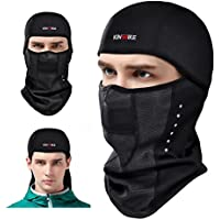 KING BIKE Balaclava Ski Face Mask Windproof Men Women Warm Hood Winter Masks Thermal Fleece Fabric with Breathable Vents for Cold Cycling Skiing Motorcycle Snowboard Tactical Hunting