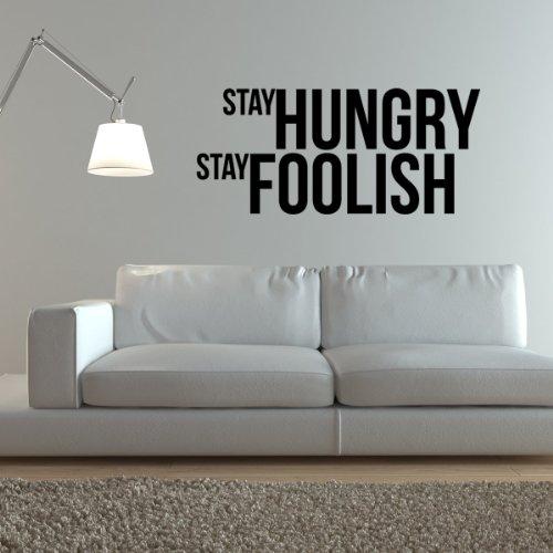 STICASA ' quot;Stay Hungry Stay Foolish 147x 65cm–schwarz matt