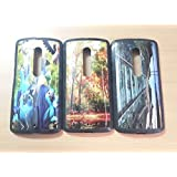 Fashionable Stylish Mixed 3D Nature Scenery Disney Design Hard Rubber Case for Motorola Moto X Play