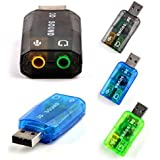 [Pack of 01] Nobility Sound Card USB NOBC010 5.1 Channel - 3D Audio Chipset - 3.5mm Speaker Microphone Earphone Interface - Color May Vary