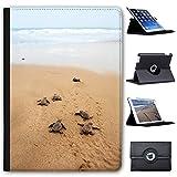 Fancy A Snuggle Baby-Schildkröten Laufen zum Meer Case Cover/Folio aus Kunstleder für Das Apple iPad AIR (1st Generation)