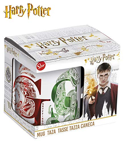 HARRY POTTER Taza ceramica en caja de regalo Houses Tazas de desayuno