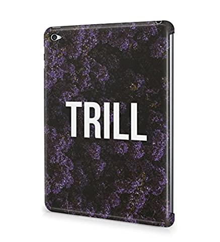 Trill Dark Purple Wild Flower Pattern Durable Hard Plastic Snap On Tablet Case Cover Shell For iPad Mini 4 Coque Housse Etui