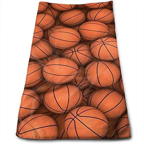 NA Basketball Orange Bedrucktes Badetuch weich Niedliche hochsaugfähige große Handtücher Mehrzweck für Bad Hotel Fitnessstudio und Spa