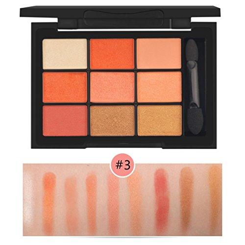 Hffan New 9 Color Cosmetic Matte Eyeshadow Cream Makeup Palette Shimmer Set Brush Set Professional...