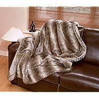 Tundra Wolf Luxury Faux Fur Throw (Standard 140 x 180 cm)