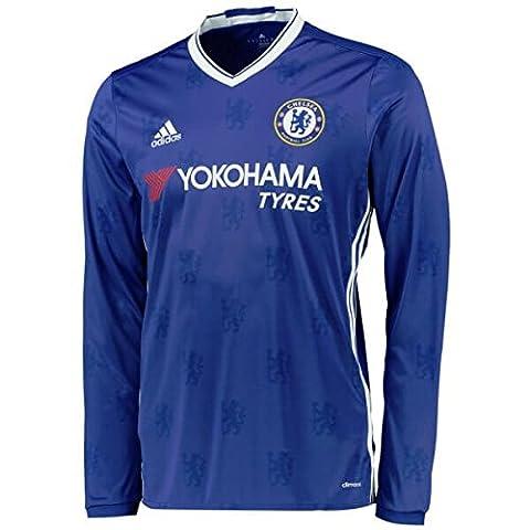 adidas CFC H JSY YL Première - T-shirt de club Chelsea FC 2015/16 pour Garçon, Bleu / Blanc - 152, Taille: 152