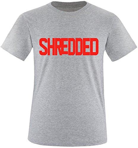 EZYshirt® Shredded Herren Rundhals T-Shirt Grau/Rot