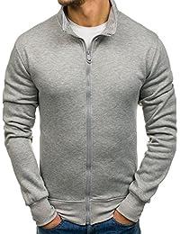 BOLF - Sweat-shirt - Pull de sport – Fermeture éclair - Homme – Motif 1A1