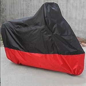 Vktech Housse de protection respirante pour moto Étanche et anti-UV Sac de rangement inclus Noir/rouge Taille XXL