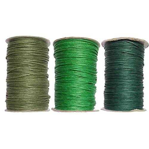 Fenteer Baumwollband Baumwollschnur Gewachst 1,5MM 4Rollen Wachsschnur Seile für DIY Halskette Armband Handwerk - Farbe 5