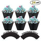 cupcake Avvolgi muffin decorativi (24pack), Konsat Festa di laureato a forma torta Bicchieri di carta tazza di cottura cupcake decorazioni Festa di laureato