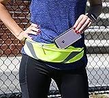 Nacuwa Running Belt, Adjustable Waist Pack - Waterproof Runners Belt for Hiking Fitness