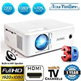 Best Led Projectors - Myra® TouYinGer X20 Led Projector 2200 Lumens, 800*600 Review