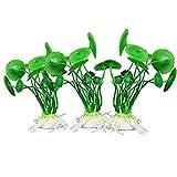 Sonline3pcs Plantes Aquatiques de Simulation en Plastique Ornement d'Aquarium - Vert