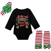 Moresave Nouveau né Kids Barboteuse Set Toddler Filles Vêtements Costume Avec Bandeau Bowknot Leg Warmer