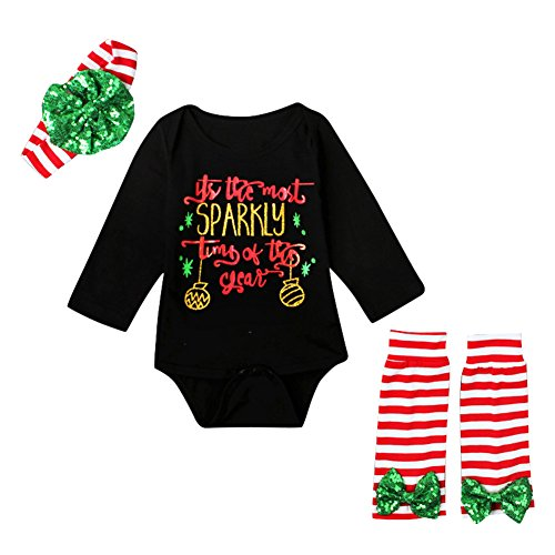 Newborn Baby Clothes Christmas Baby Girl Rompers For Xmas Sleeper or Casual Jumpsuit Outfits (Floral Holiday Christmas Kleid)