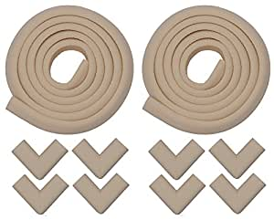 Store2508 Child Safety Strip Cushion & Corner Guards with Strong Fibreglass Tape for Baby Safety Child Proofing (Ivory)