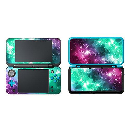 uushop Vinyl Schützende Haut Aufkleber Cover Wrap für Neue Nintendo 2DS XL/LL Sterne