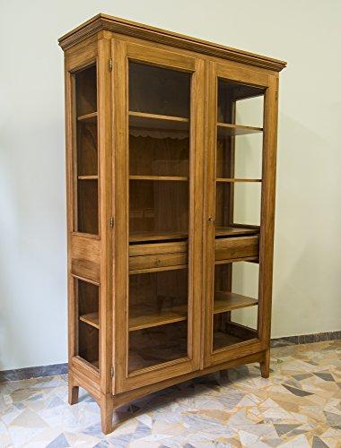 Ebanisteria Gambella - Nussbraune Vitrine - Traditionelle Holz-vitrine