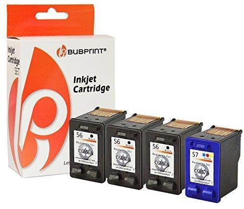 Bubprint 4 Druckerpatronen kompatibel für HP 56 black + 57 color DeskJet 450 WBT