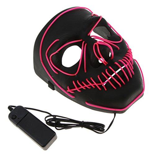 nde Schädel Maske Skelett Maske Halloween Kostüm Maske mit Batterie Energie Erhalten - Rosa (Skelett-kostüm Für Baby)