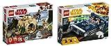 LEGO Star Wars 2er Set: 75208 Yodas Hütte + 75209 Han Solo's Landspeeder