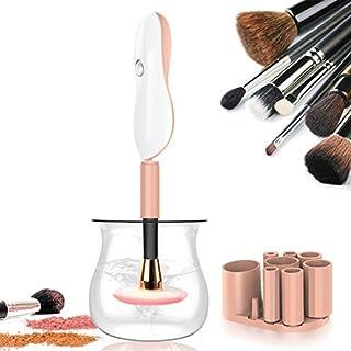 Makeup Pinsel Reiniger - Rantizon Automatisches Kosmetikpinsel Reinigungsgerät, Elektronischer Pinselreiniger mit 8 Gummi Halsbänder, Hochgeschwindigkeits Rotation Reinigung und Schnell Trockner