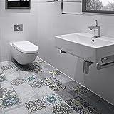 Ambiance-Live col-floor-RV-0562 Sticker Adhésif, Multicolore, 60 x 90 cm