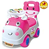 GoodLuck Baybee - Kids Ride On Push Car Toy With Music For Babies Car Children Rider & Small Toy Toddlers Baby Toys | Suitable Toy Car Kids For Boys & Girls (1-2 Years) (Pink-White)