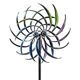 Bits and Pieces - Rainbow Wind Spinner - Decorative Lawn Ornament Wind Mill